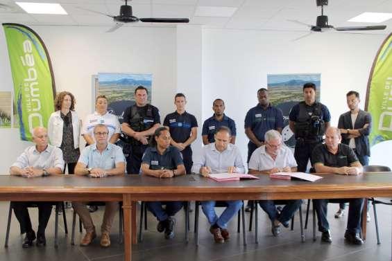 La police municipale de Dumbéa forme quatregardes champêtres de Boulouparis