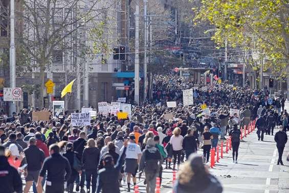 Des manifestations en Australie en pleine vague épidémique