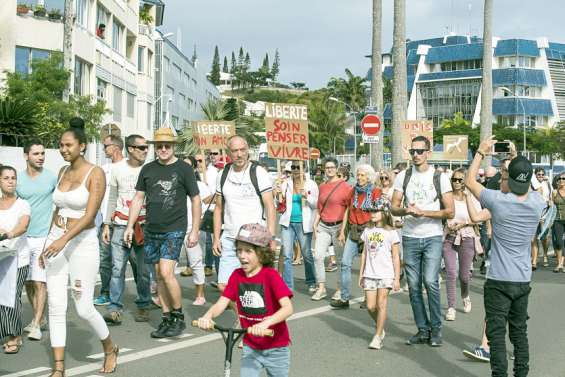 Mobilisation à Nouméa contre le pass sanitaire