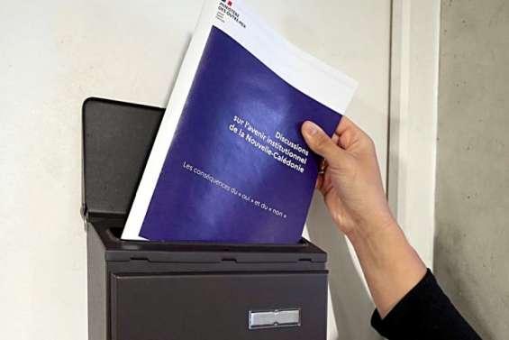 Le document sur le Oui et le Non dans toutes les boîtes à lettres de la province Sud
