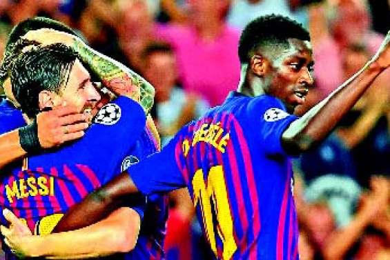 Messi et Dembélé mettent le Barça sur la bonne voie