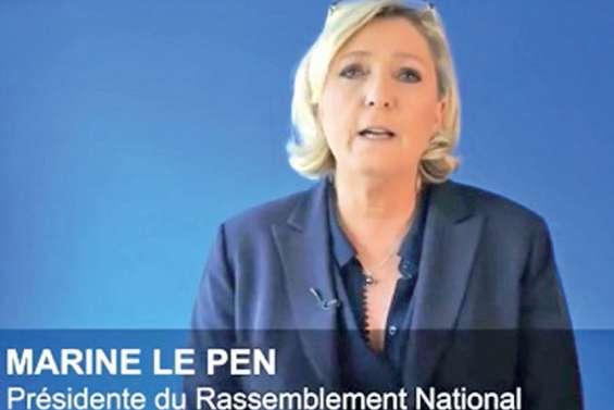 Une vidéo de Marine Le Pen en faveur de Descombels