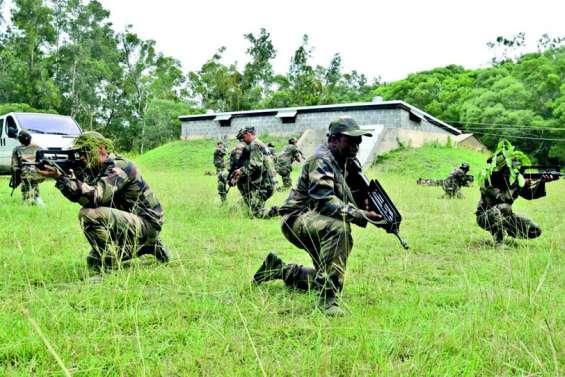 Des stagiaires en opération militaire