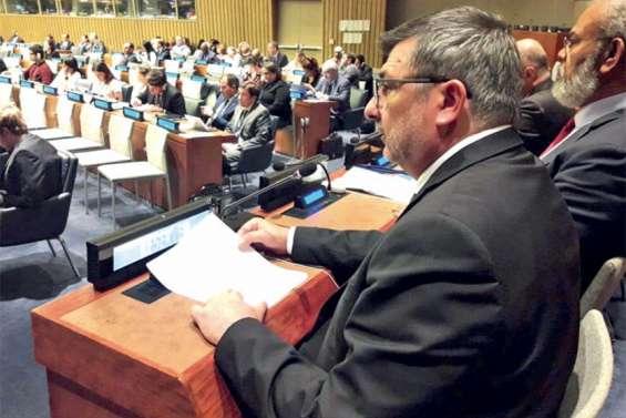 Philippe Germain au comité de décolonisation de l'ONU