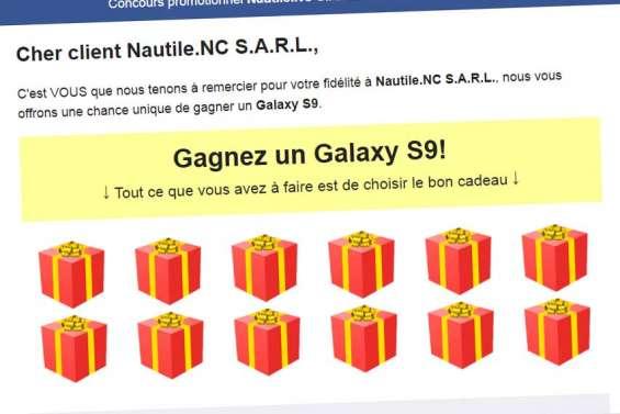 Non, le fournisseur d'accès Nautile ne fait pas gagner de smartphone !