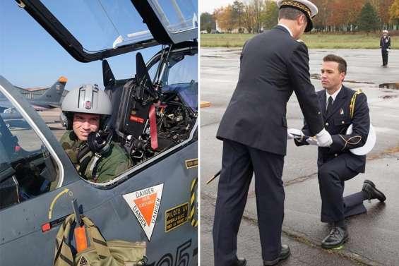 L'aspirant Johan, pilote de chasse, aimerait évoluer sur Rafale