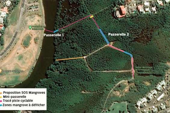 Prolongement de la piste cyclable, SOS Mangroves propose un autre tracé