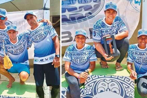 Titouan Puyo et Marcy Manate dominent les mers du Sud