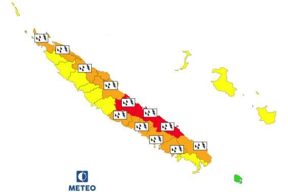 Vigilance « fortes pluies » sur la côte Est