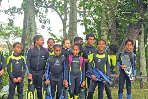 Des élèves de Hienghène comme des poissons dans l'eau