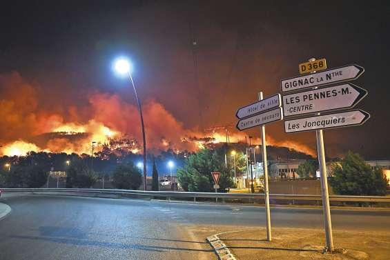 Les incendies maîtrisés aux portes de Marseille