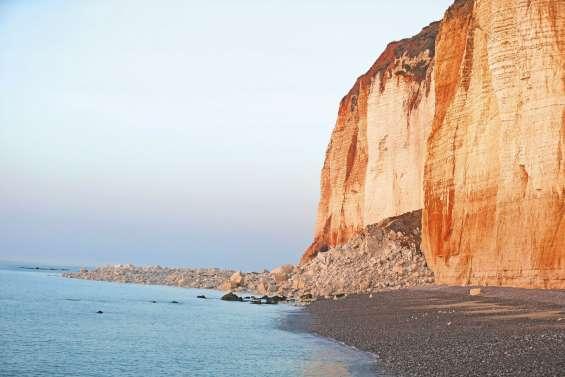 Un bout de falaise tombe près de Fécamp