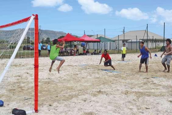 Une première pour le beach handball