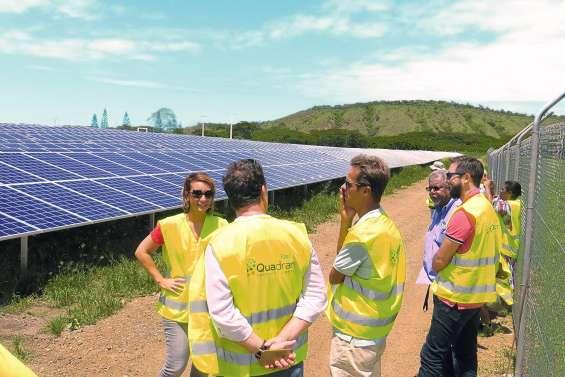 La centrale solaire sort de terre