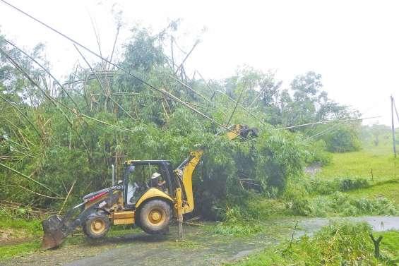 Des dégâts matériels à Farino  et des zones inondées à Thio