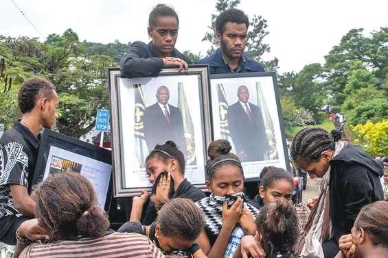 Les Vanuatais pleurent leur président