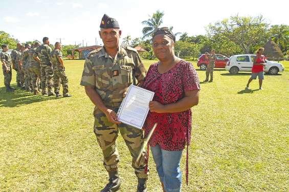 Un militaire mis à l'honneur à Nathalo