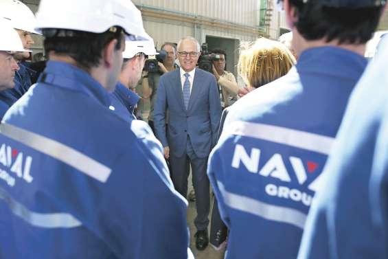 Malcolm Turnbull en visite à Cherbourg