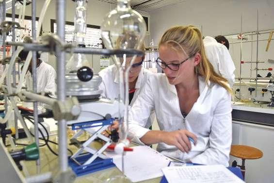 Des lycéens dans les laboratoires  de l'Université pendant les vacances