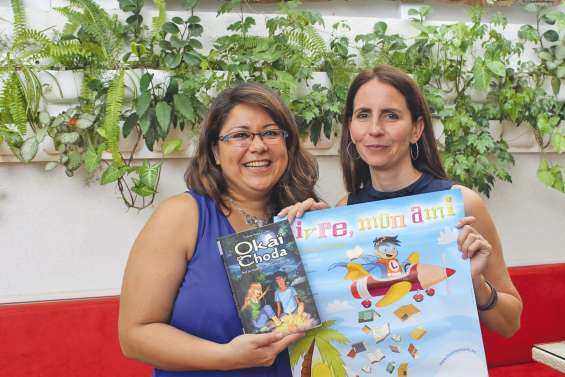 La « maman » d'Okaï et Choda à la rencontre de ses lecteurs