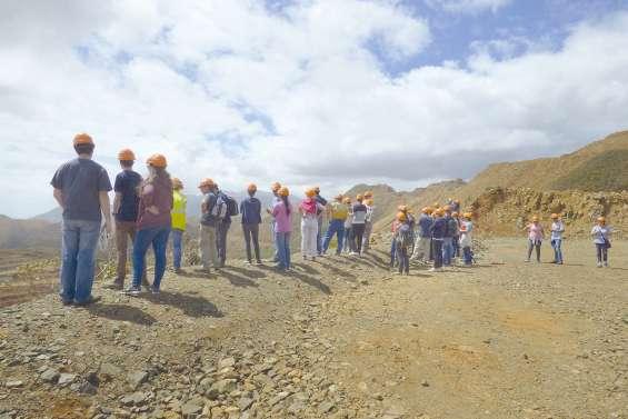 Visite de la mine SLN du plateau le 17 février
