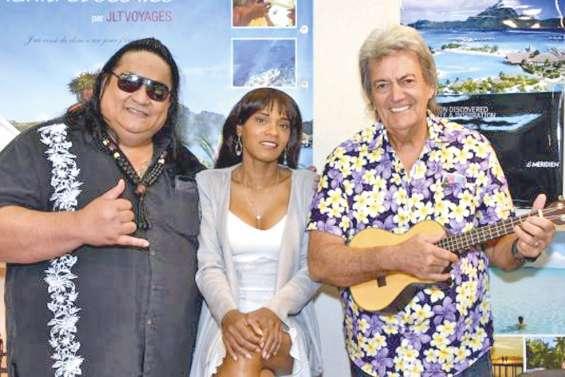 Gabilou et des chanteurs océaniens en janvier à l'Olympia
