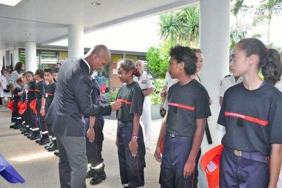 Les jeunes sapeurs-pompiers ont reçu leur premier galon