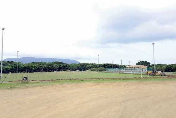 Le terrain du stade  municipal en travaux