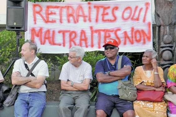Les retraités manifestent à nouveau ce matin