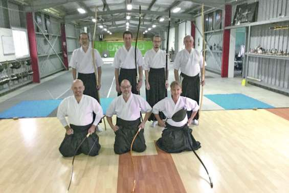 Le tir à l'arc traditionnel japonais,  le kyudo, en compétition