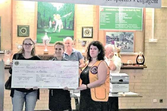 Le Lions fait un don de 300 000 francs aux Doudous du Caillou