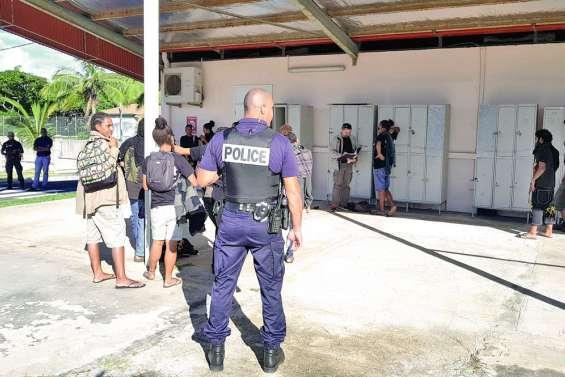 La police investit l'EFPA pour une opération de lutte contre le cannabis