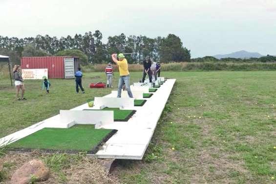 Golf et tir à l'arc sur un même site