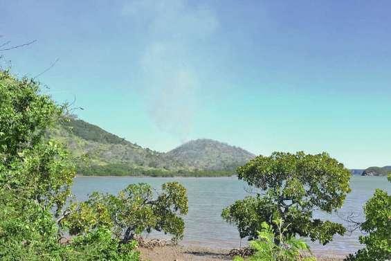 Un petit incendie  ravage un hectare  de brousse à Dumbéa