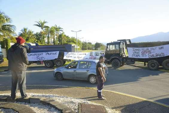 Un collectif du BTP bloque la route de l'Aérodrome