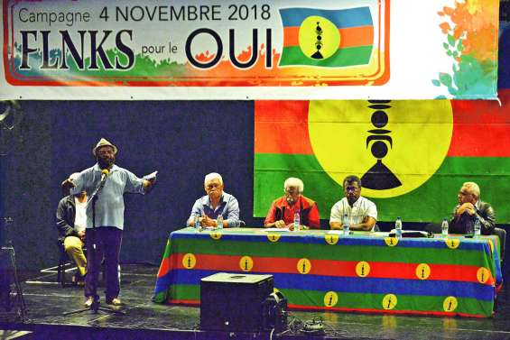 Premier meeting de campagne du FLNKS