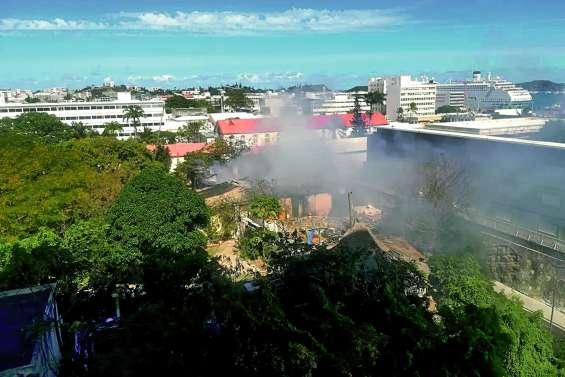 La « maison de l'Intendant » a pris feu