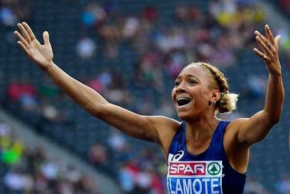 Renelle Lamote en finale du 800 mètres