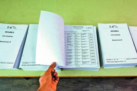 Les listes du référendum dans les mairies