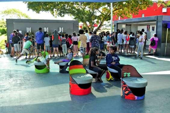 Le land art s'invite au skate parc de Koutio