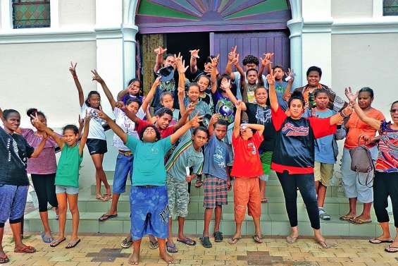 Les enfants de la catéchèse profitent des vacances