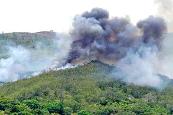 Tiabet sauvé des flammes, Touho en proie à un incendie