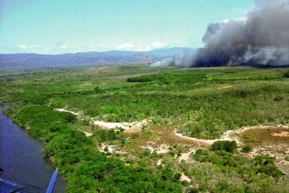 Incendie monstre à Ouégoa, 540 hectares brûlés en 4 heures