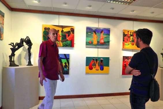 Dernière exposition collective  et évolutive au Chevalet d'art