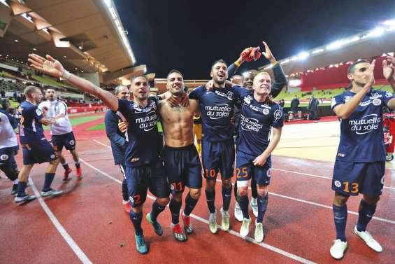 Montpellier renverse Monaco et prend la deuxième place de L1