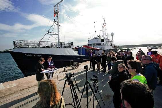 Un navire humanitaire allemand rebaptisé Alan Kurdi