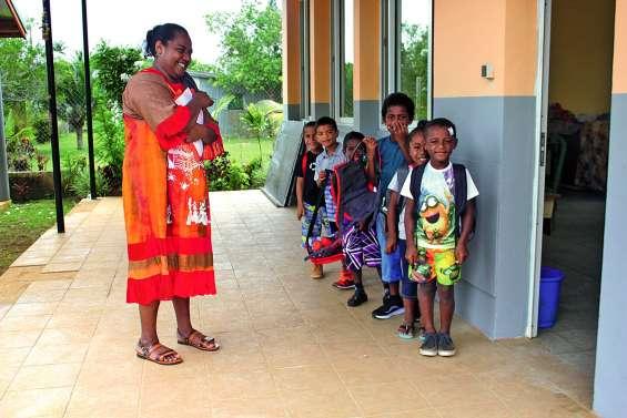 Premier jour à la maternelle de Siloam