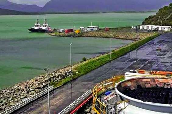 Charbon dans le port de KNS : des travaux « lancés »