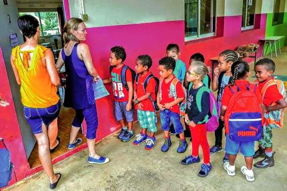 Les enfants ont retrouvé leur école de Waho