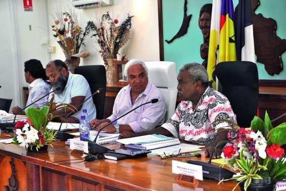 La province des Îles autour du président, Neko Hnepeune, note une amélioration de l'épargne brute l'an passé, ce qui renforce sa capacité d'investissement. Photo LNC